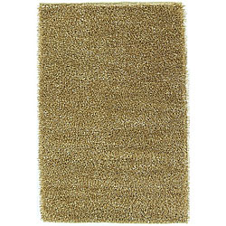 Shaggy Cream Polyester Rug (5' x 8')