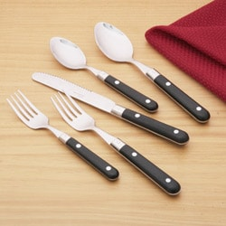 Ginkgo Le Prix 20-piece Black Flatware Set