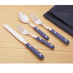 Ginkgo Le Prix 20-piece Royal Blue Flatware Set