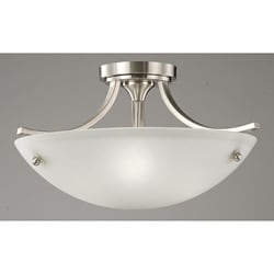Satin Nickel 3-light Ceiling Lamp