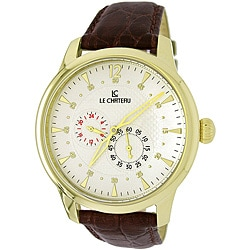Le Chateau Men's Cautiva Collection Automatic Leather Band Watch