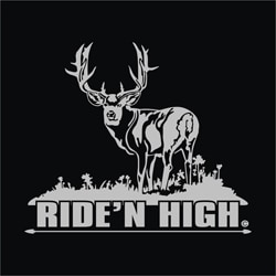Upstream Images Ridin High Silver Window Decal