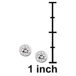 Sterling Essentials Sterling Silver 5-mm Round Cubic Zirconia Studs