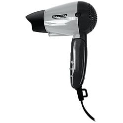 Travelon Compact Foldable Black/Gray Dual-voltage Travel Hair Dryer 5337686