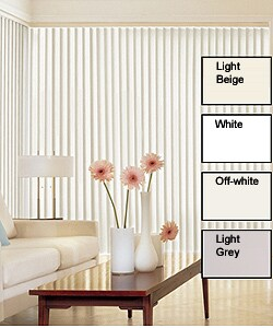 Solid Vinyl Vertical Blinds (30 in. W x Custom Length)