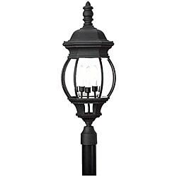Outdoor Post 3-light Black Finish Lantern