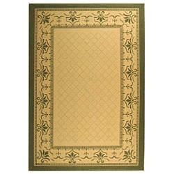 Safavieh Indoor/ Outdoor Royal Natural/ Olive Rug (5'3 x 7'7)