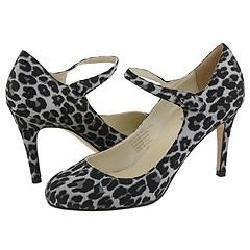 Type Z Renee Leopard Satin Pumps/Heels