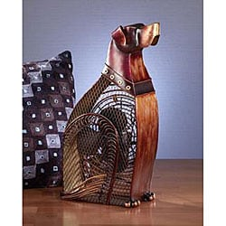 Metallic Figurine Dog Fan