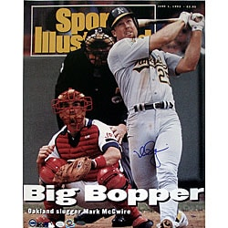 Mark McGwire Big Bopper SI Cover 16x20 Autographed Photo