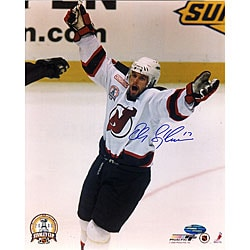 Martin Brodeur Autographed New Jersey Devils 8X10 Photo Black Custom Frame - 3X Stanley Cup Champion 267973978
