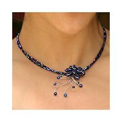 Stainless Steel Lapis Lazuli 'Midnight Sea' Choker (Thailand)