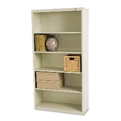 Tennsco Adjustable 5-shelf Putty Metal Bookcases