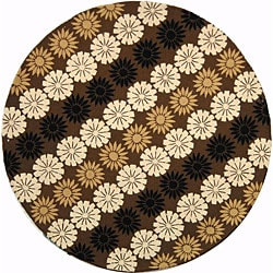 Martha Stewart Solar Garden Fig Wool Rug (6' Round)