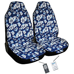 Hawaiian Blue Automotive 2-piece Bucket Seat Covers (Airbag-friendly)