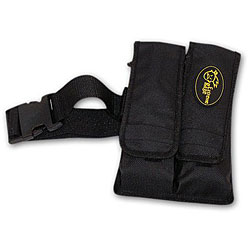 Paintball 2-pocket Black Pod Pouch with Tubes and Belt