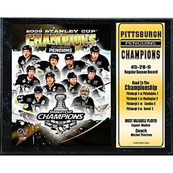 2009 Pittsburgh Penguins 12x15 Championship Plaque