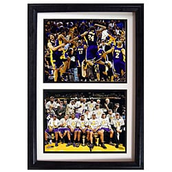 """LA Lakers 2009 NBA Champions Collectible Sports Prints in Custom Frame (12"""" x 18"""")"""