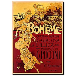 Adolfo Hohenstein 'Boheme-Puccini' Gallery-wrapped Canvas Art