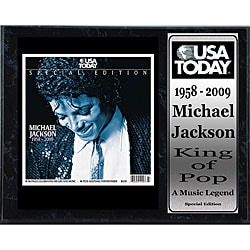 USA Today King of Pop Special Edition 12x15 Plaque