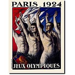 Jean Drout 'Paris 1924 Jeux Olympiques' Canvas Art