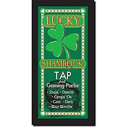 Walter Ayres 'Lucky Shamrock Tap' Canvas Art