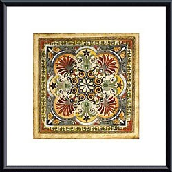 Ruth Franks 'Italian Tile I' Metal Framed Art Print