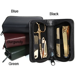 Royce Leather Gold Mini Travel Manicure Set