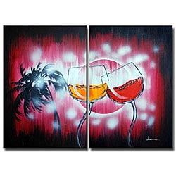 'Dancing in the Rain' 2-piece Canvas Art
