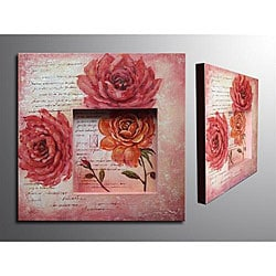 'Floral Message' 3D Canvas Art