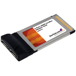 StarTech.com 2 Port CardBus eSATA Laptop Controller Adapter Card