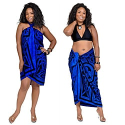 Celtic Circles Cool Blue Sarong (Indonesia)