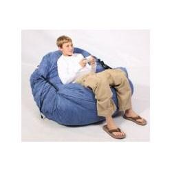 FufSack Sky Blue Microsuede Sofa Sleeper/ Lounge Bag