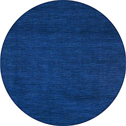 Blue Fusion Wool Rug (8' Round)