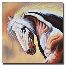 'White Stallion' Canvas Art