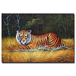 'Snow Tiger' Canvas Art