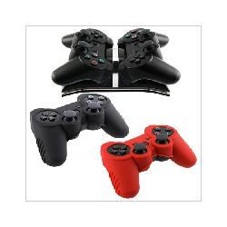 Insten Remote Controller Charger with 2 Skin Cases for Sony PS3 5771639