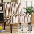 TRIBECCA HOME Decor Striped Print Lounge Chair