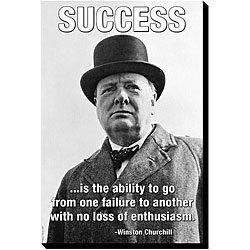 'Success -- Winston Churchill' Canvas Art