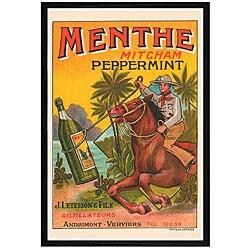 'Menthe Cowboy' Framed Print Art