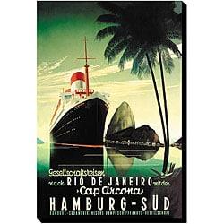 'Hamburg to Rio' Canvas Art