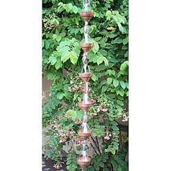 Eastern Hammered 8.5-foot Cupped Copper Rain Chain