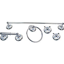 Moen Boutique Blue Floral 5-piece Bath Accessory Kit
