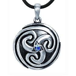 Pewter Celtic Eternal Spiral Necklace