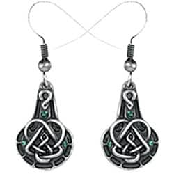 Pewter Celtic Pendulum Earrings