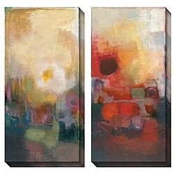 Bailey 'Seasonal Tones III & IV' Oversized Canvas Art Set