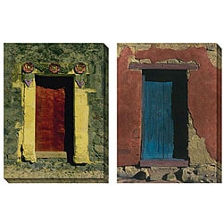 Deborah Dupont 'Casa de Rosa' Oversized Canvas Art Set