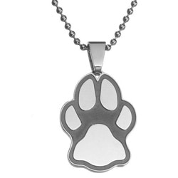 Cat or Dog Paw Print Stainless Steel Pendant