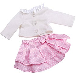 Springfield Collection Pink Skirt White Top 18-inch Doll Outfit