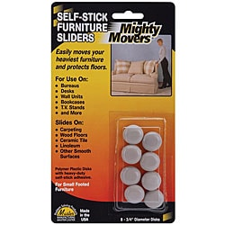 Mighty Movers Self-adhesive Furniture Sliders (Pack of 8)